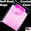 Clear 12x15 T Shirt Plastic Bags 5//100//1000//5000 Reclosable Packing Cello Poly