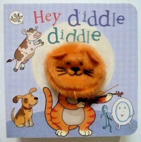 Little Learners Hey Diddle Diddle Finger Puppet Book Ages 2+ New Gift Board Book
