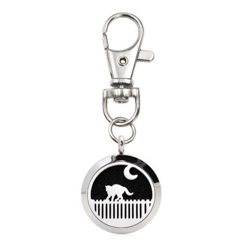 Acier Inoxydable 25 mm Essentiel Aroma Parfum Diffuseur Médaillon Pendentif Keychain