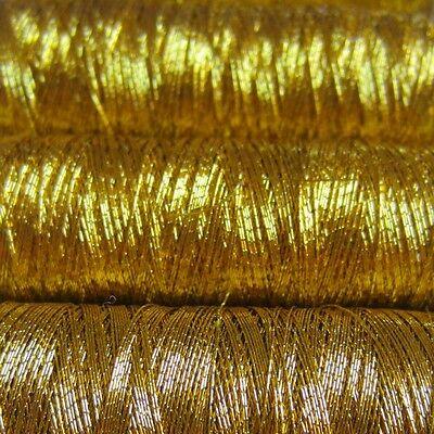 ROXANA metallized embroidery yarn, wind of 60m, GOLDEN 02
