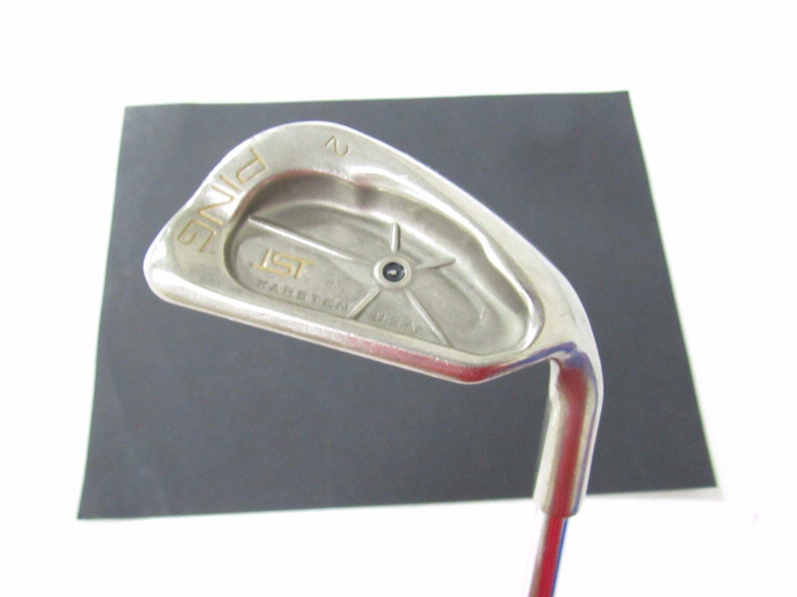 Utiliza la mano derecha Ping ISI (punto Negro) S2 oro Dinámico de cuña de Arena Pro Acero Regular Flex R