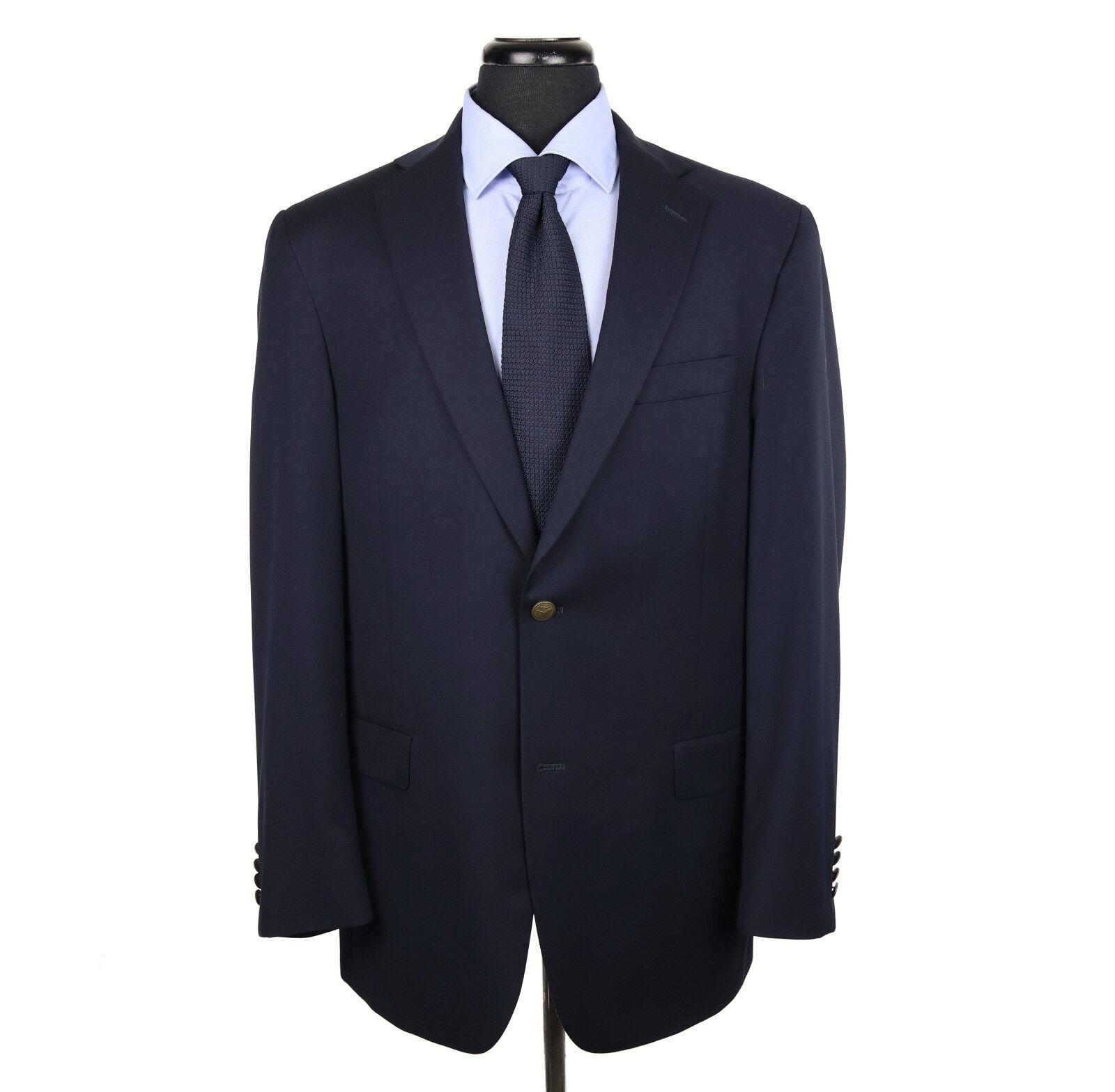 Hart Schaffner Marx 2-Btn Blazer Size 42L Navy bluee w Metal Buttons Very Recent