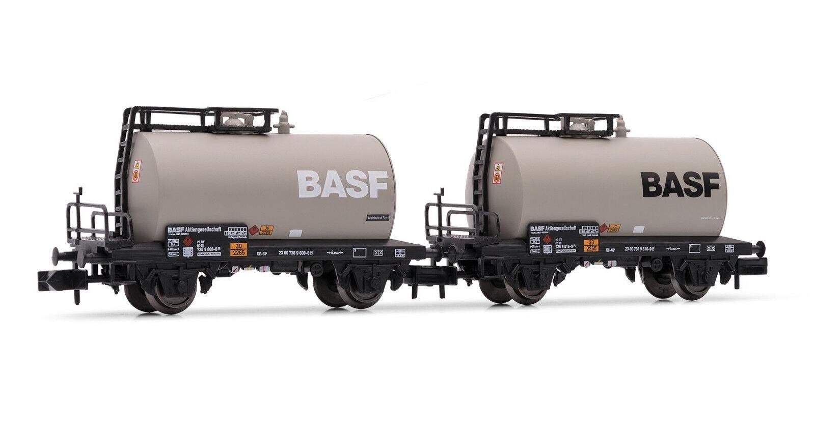 Arnold HN6312 2er Set 2-achsige Kesselwagen  BASF  DB Epoche IV N 1 160 NEU OVP