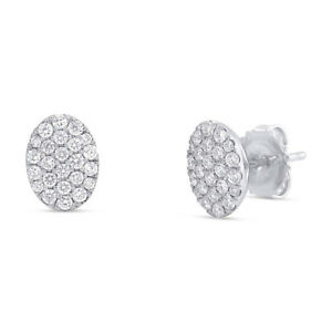 Image Is Loading 0 50ct 14k White Gold Round Cut Pave