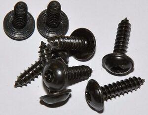 10x-Torx-Linsen-Blechschrauben-mit-Bund-4-8-x-16-schwarz-verzinkt
