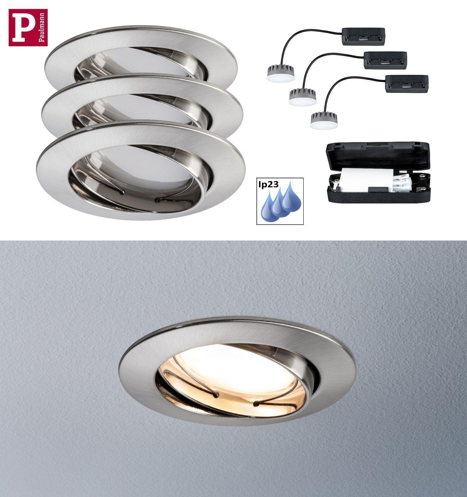PAULMANN EBL LED LED LED Coin satin 3x6,8W Eisen IP23 nur 3cm Einbautiefe   Sehr gute Qualität    Spielzeugwelt, spielen Sie Ihre eigene Welt    Vogue  253dfe