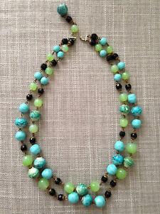 Vintage necklace. perles Collier ancien en verre noir des années 1950.Japon