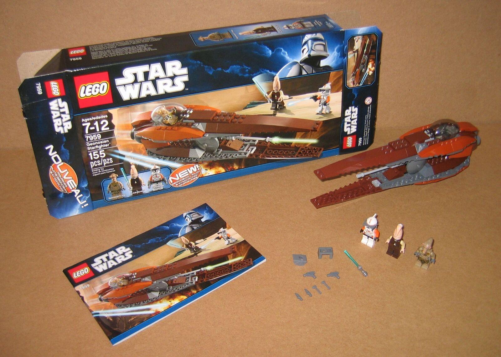 7959 Lego Estrella Wars Geonosian Estrellafighter 100% Completo Caja Manual ex Cond 2011