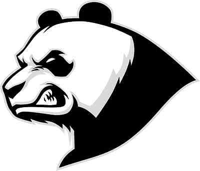 "Angry Panda Bear Animal Car Bumper Sticker Decal 5"" x 4"""