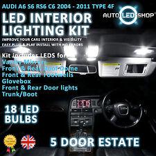 AUDI A6 C6 ESTATE 05-10 LED INTERIOR UPGRADE COMPLETE KIT SET BULB XENON WHITE