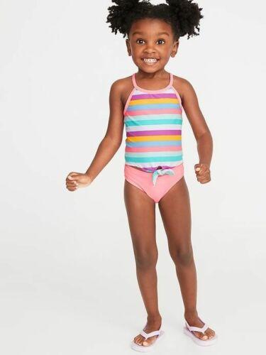 NWT OLD NAVY GIRLS SIZE 12 18 months 2 PIECE SWIMSUIT TANKINI bikini striped