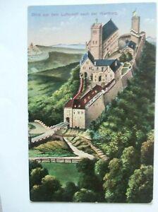 Ansichtskarte-Blick-aus-dem-Luftschiff-nach-der-Wartburg-1913