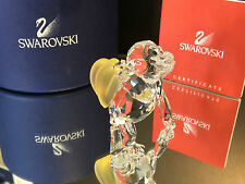 SWAROVSKI FIGUR GORILLA MIT BANANEN MIT OVP & ZERTIFIKAT ((( TOP ZUSTAND )))