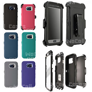 For-Galaxy-S6-Case-Cover-With-Screen-Protector-Belt-Clip-fits-Otterbox-Defender