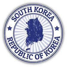 South Korea Map Grunge Rubber Stamp Car Bumper Sticker Decal 5'' x 5''