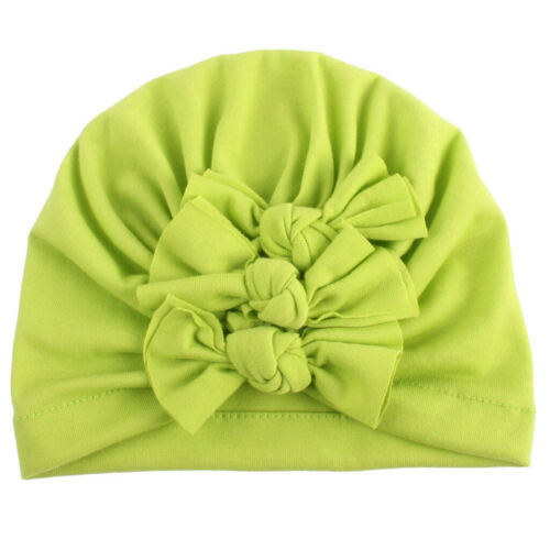 Newborn Toddler Baby Boy Girl Cap Knotted Lace Bow Hat Beanie Headwear Cap Hat