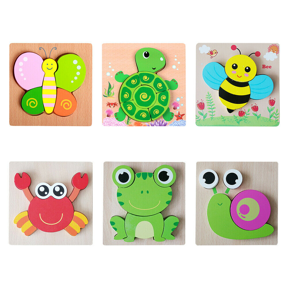 Wooden Puzzles Toddler Puzzle Game Jigsaw Educational Toy for 1 2 3 Year Old 2