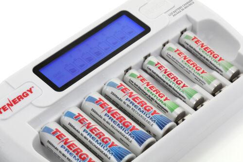 Tenergy TN162 8-Bay AA//AAA NiMH//NiCd Smart Charger+16 AAA Premium NiMH Batteries