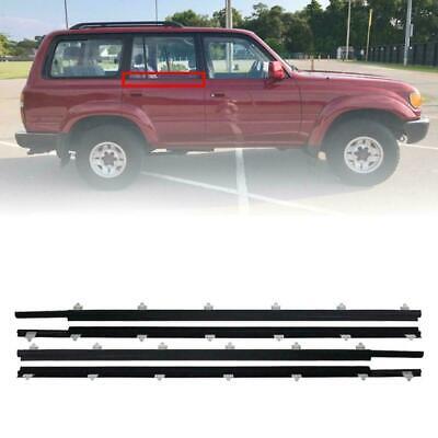 Door Belt Weatherstrip Outer Front Rear Fit Toyota Land Cruiser FJ80 1991-1997