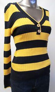 super popular 97889 8e9d6 Details zu Ralph  Lauren,Neuwertig,Damen,Pullover,Gelb/Schwarz,Gestreift,M(USA),Gr.40