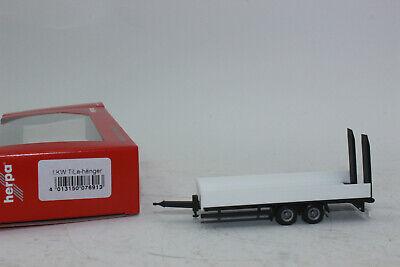 H0 Auto Modell 1:87 Herpa 076913 LKW Tieflade-Tandemanhänger mit Auffahrrampe