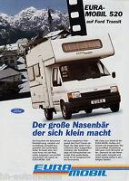 Prospekt Eura Mobil 520 Ford Transit Reisemobil 1994 Wohnmobil brochure