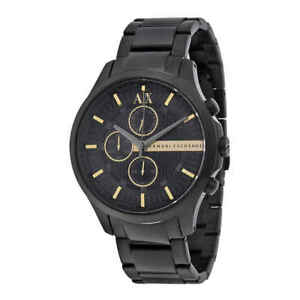 Armani-Exchange-Chronograph-Black-Dial-Men-039-s-Watch-AX2164