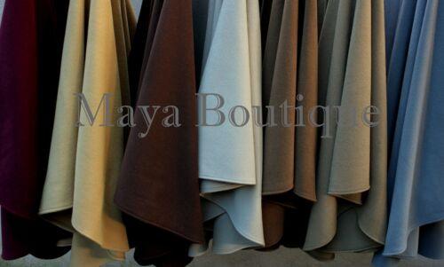 Gray Cape Ruana Wrap Coat Wool Cashmere Blend by Maya Cape Ruana USA Made