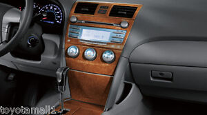 2007 2008 2009 2010 2011 camry dash kit molded wood grain factory toyota oem new ebay. Black Bedroom Furniture Sets. Home Design Ideas