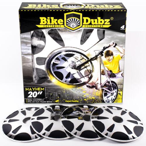 BikeDubz Mayhem 20 Inch Wheel Covers For BMX Bicycle Fits United Bikes