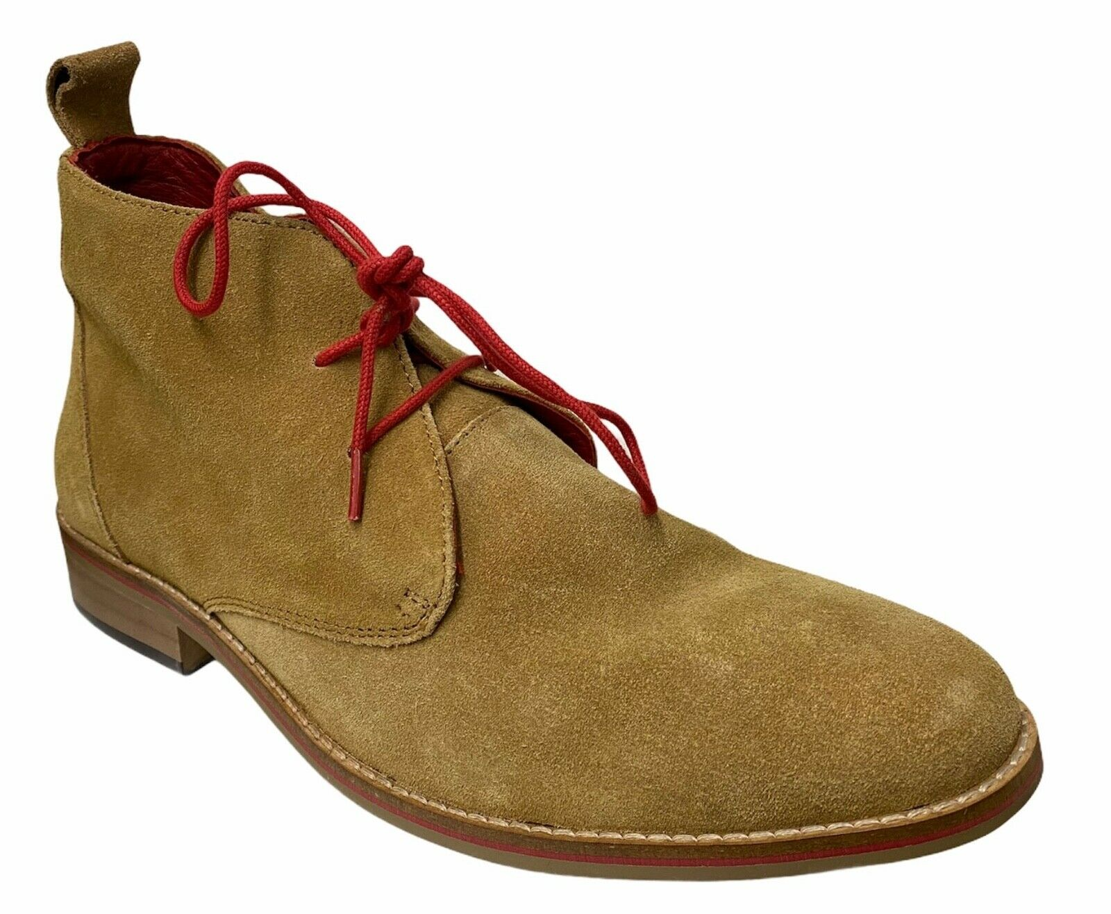 Maybury Mens Gents Stylish Smart Sand Suede Lace Up Chukka Boots New Size 7.5 11