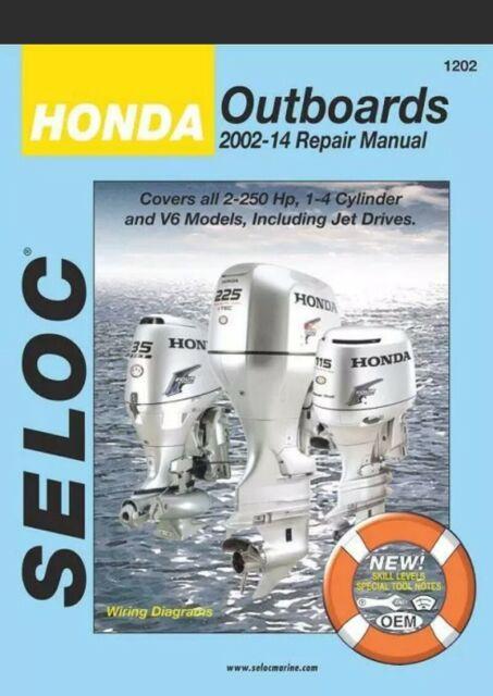 1202 Seloc Marine Engine Repair Manual Honda Outboard 2002