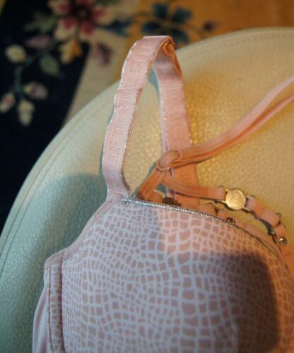 """Marlies Dekkers Pink//Pink /""""Snake/"""" 15936 U//W Preformed Brief Back Body Suspenders"""