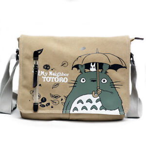 Image is loading Anime-My-Neighbor-Totoro-Canvas-Shoulder-Messenger-Bag- 2485da0ac