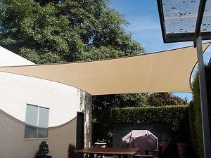 Sun Shade Sail Polyfab Comshade Commercial Grade Shade Sails Ebay