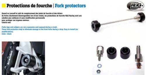 Protection de fourche R/&G Racing Noir Pour  KTM RC8 1190 08-09