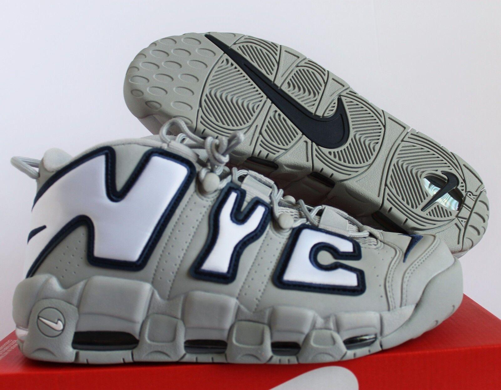 Nike air più ritmo nyc qs new york lupo [aj3137-001] grey-white sz 10 [aj3137-001] lupo c16f02