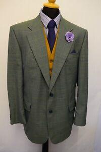 Ms1821 Green Men's Blazer 44r Size Windowpane Jacket Wellington Executive Mix rqOx7rwBg