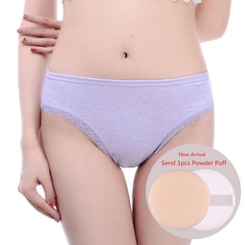 Briefs Women Cotton Underwear Large Size Comfort Solid Lace Panties Undepants