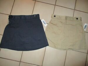 6cda9e55c NWT Old Navy Girls Uniform Skorts SKIRT / SHORTS Khaki Tan Navy Blue ...