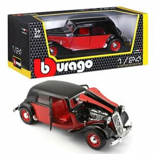 Bburago-Citroen-15-CV-TA-Black-Red-1938-Scale-1-24-classic-car