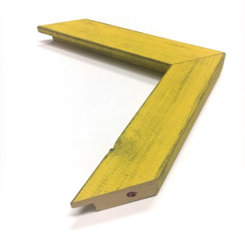 """Yellow 1 1//2/"""" Country Rustic Readymade Wood Picture Frame"""