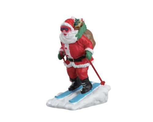 Modellbau 237 Lemax Santa Skier Weihnachtsdorf Weihnachtsfiguren