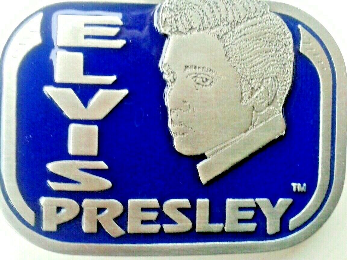 Elvis belt buckle the king of rock and roll.