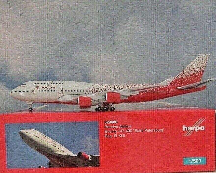 Herpa Wings 1 500 Boeing 747-400 Rossiya Rossiya Rossiya Airlines 529686 Modellairport500 e62813