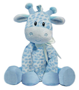 Blue Giraffe 21cm Baby Boy Plush Rattle Non Allergic Soft Toy First