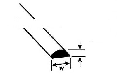 Plastruct Styrene MRH-60 Pack 10 x 1.5mm x 250mm Lengths Half Round 1st 90881