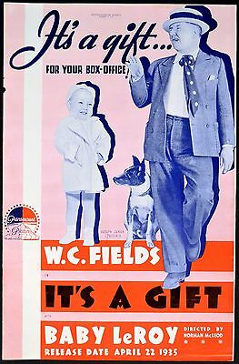 It S A Gift 1934 W C Fields Baby Leroy Trade Advert Ebay