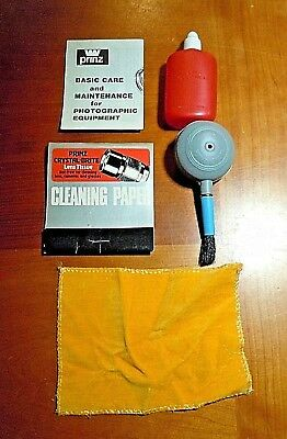 Prinz Lens Cleaning Kit Supplies Taiwan Tissue Brush open appears unused