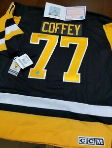 Image is loading Paul-Coffey-77-Signed-Pittsburgh-Penguins-Official-Jersey- 450c0ddee